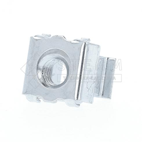 Nakrętka klatkowa do otworów kwadratowych - klatka: stal, nakrętka: stal, powłoka: ocynk biały