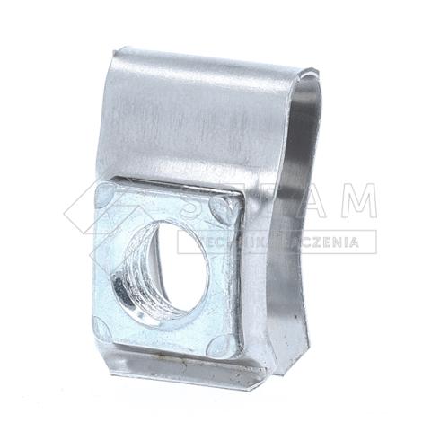 Nakrętka klatkowa - klatka: stal nierdzewna, nakrętka: stal, powłoka: ocynk biały - F-10100